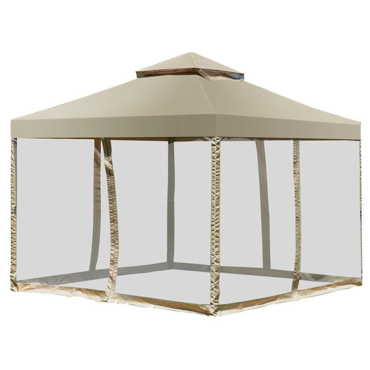 2 Tiers 11.5/' x 11.5/' Patio Garden Gazebo Canopy Tent Shelter Awning Waterproof