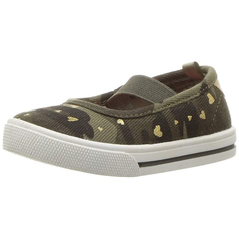 Carter's Kids Girl's Briana Camo Print Casual Maryjane Mary Jane Flat