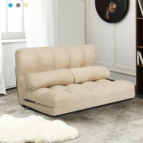 Costway Foldable Floor Sofa Bed 6-Position Adjustable Lounge Couch