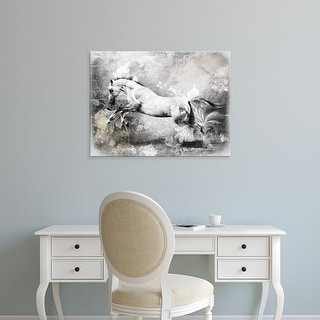 Easy Art Prints GraphINC's 'White Horse' Premium Canvas Art