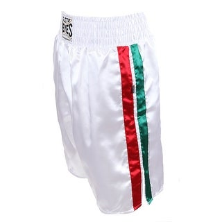 Cleto Reyes Satin Classic Boxing Trunks - Mexican Flag