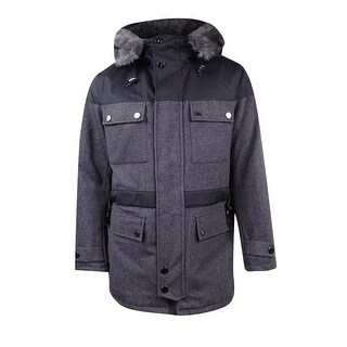 Nautica Men's Navigator Parka with Faux Fur Trim