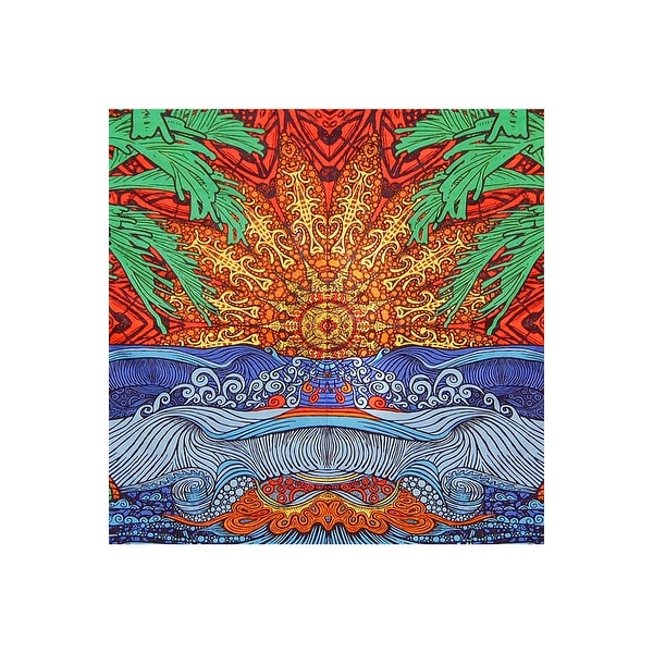 Handmade 100% Cotton 3D Epic Surf Tapestry Throw Tablecloth Spread Twin 60x90 Full 85 x 100