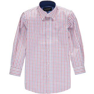 Leo & Zachary Boys 4-7 Box Plaid Dress Shirt - Red