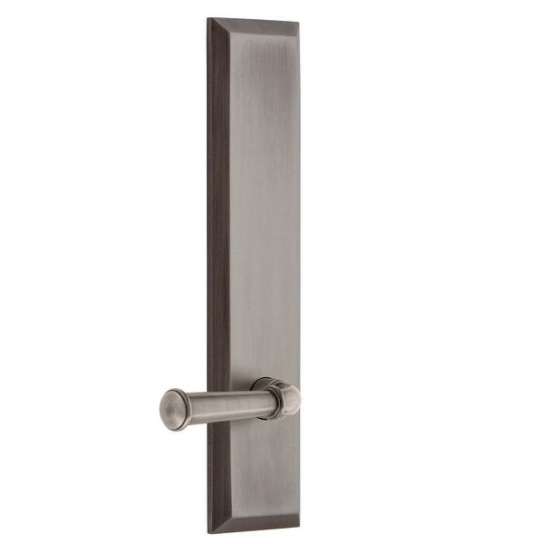Grandeur FAVGEO_TP_PRV_238_RH Fifth Avenue Solid Brass Tall Plate Right Handed Privacy Door Lever Set with Georgetown Lever and