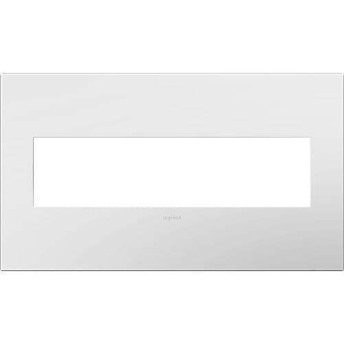 Legrand AWP4GWH4 adorne 4 Gang Plastic Wall Plate - 6.56 Inches Wide