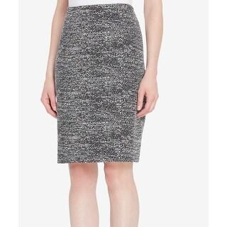 Tahari by ASL NEW Black Women Size 8P Petite Knit Straight Pencil Skirt