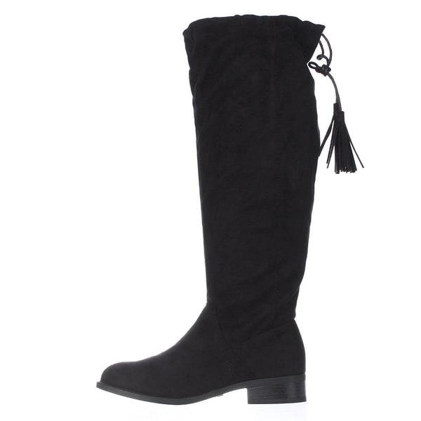 Thalia Sodi Womens Eliz Fabric Closed Toe Knee High Fashion Boots