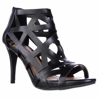 Fergalicious Histeria Caged Cutout Sandals - Black