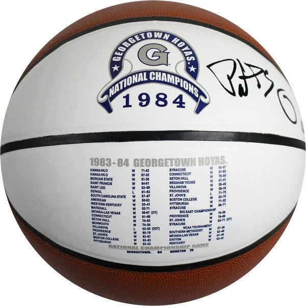 Patrick Ewing Georgetown Hoyas 1984 National Champions Stat Logo Baden Basketball
