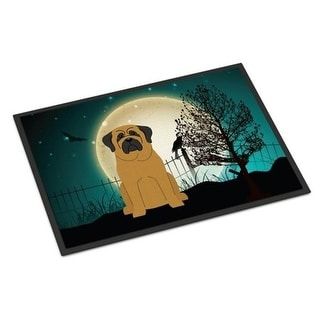 Carolines Treasures BB2208MAT Halloween Scary Mastiff Indoor or Outdoor Mat 18 x 0.25 x 27 in.
