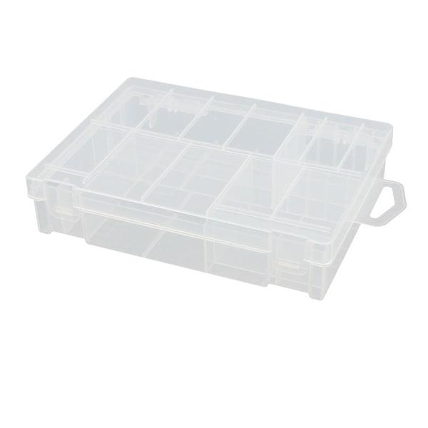 155mmx115mmx35mm Transparent Storage Case Plastic Battery Box Holder Organizer