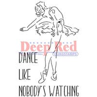 """Deep Red Cling Stamp 3""""X5""""-Dance"""