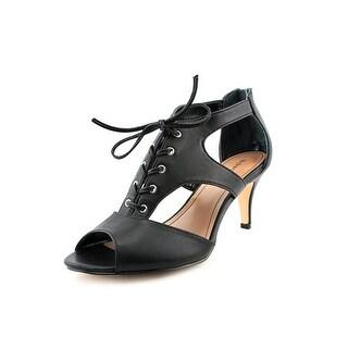 Style & Co Parrah Women Open Toe Synthetic Black Sandals