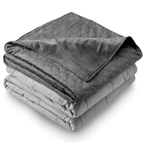 Bare Home Weighted Blanket with Cover for Adults and Kids - Improved Heavy Blanket with Premium Glass Beads