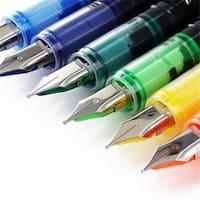 Disposable Medium Fountain Pens, Assorted - 12 per Pack