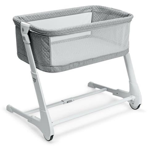 Baby Height Adjustable Bassinet w/ Washable Mattress