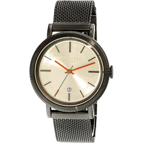Ted Baker Men's Connor Grey Stainless-Steel Fashion Watch