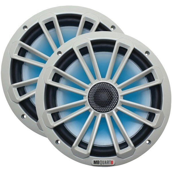 """Mb Quart Nk1-120L Nautic Series 8"""" 140-Watt 2-Way Coaxial Speaker System (With Led Illumination)"""