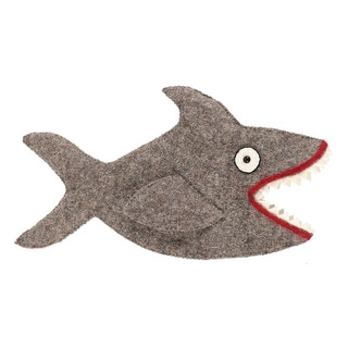 Great Gray Shark with Teeth Shaped Wine Bottle Cover Felt