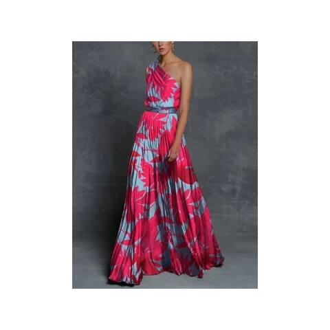 Floral Printed One-Shoulder Maxi Dresses