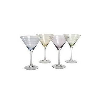 Mikasa Cheers Pastel Pastel Martini Glasses Set of 4 - Clear