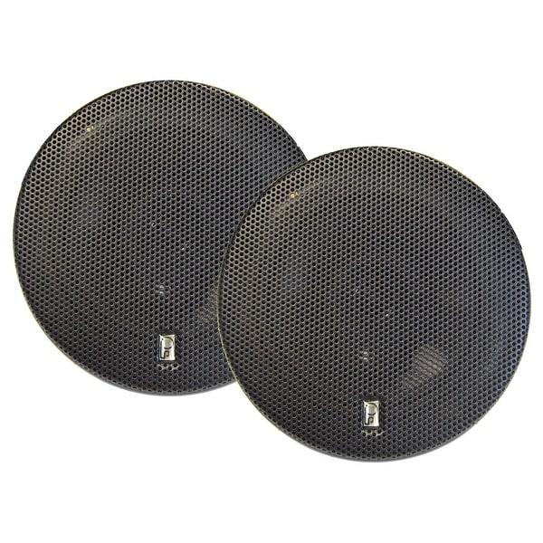 "Poly-Planar 6"" Titanium Series 3-Way Marine Speakers - (Pair) Black"