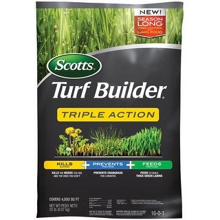 Scotts 26003A Turf Builder Triple Action Weed Control Plus Lawn Food