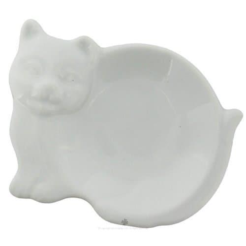 HIC 73/29 Tea Bag Caddy, Porcelain, Cat