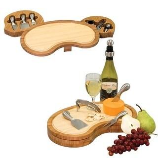 Picnic Time 849-00-505 Mariposa Cheese Board - Natural Wood