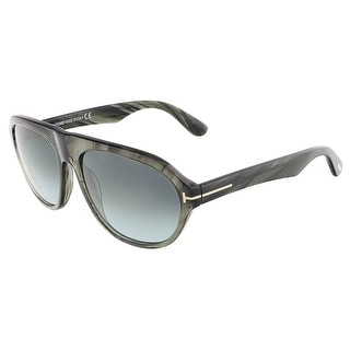 Tom Ford FT0397/S 20B IVAN Grey Marble Oval sunglasses