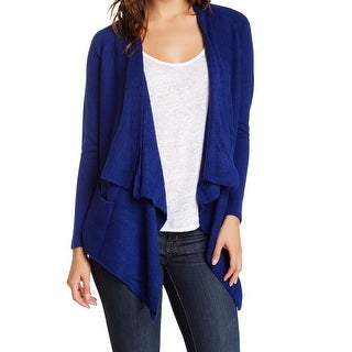 Sweet Romeo NEW Blue Women's Size Small S Draped Open Cardigan Sweater