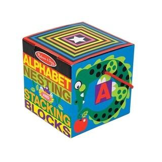 Melissa & Doug 2782 Alphabet Nesting & Stacking Cardboard Blocks