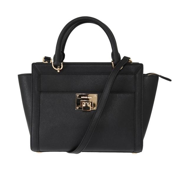 946127bce858 Shop Michael Kors Handbags Black TINA Leather Satchel Bag - One Size ...