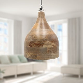 Link to Carson Carrington Varviken 15-inch Teardrop 1-light Wood Pendant - 40 Similar Items in Pendant Lights
