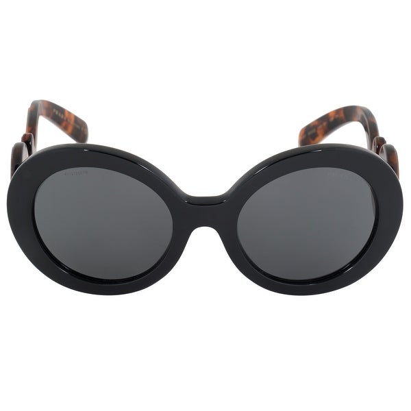 94c905336cc8 Shop Prada Minimal Baroque Round Sunglasses PR08TS 1AB1A1 55