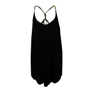 Lucky Brand Women's Coastal Palms High-Low Cover-Up - Black