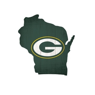 Green Bay Packers Sign Wood Logo State Design