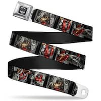 Transformers Autobot Logo Full Color Black Silver Gradient Dinobots Action Seatbelt Belt