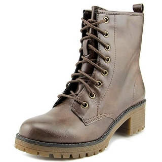 Madden Girl Eloisee Round Toe Synthetic Ankle Boot