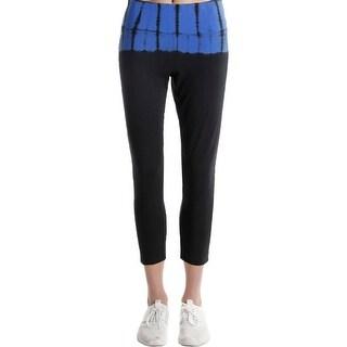 Calvin Klein Performance Womens Athletic Leggings Tummy Slimming Tie-Dye - L