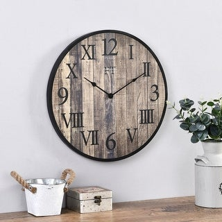 Link to FirsTime & Co. Rustic Barnside Wall Clock, American Crafted, Dark Wood Slat, Plastic, 20 x 1 x 20 in - 20 x 1 x 20 in Similar Items in Decorative Accessories