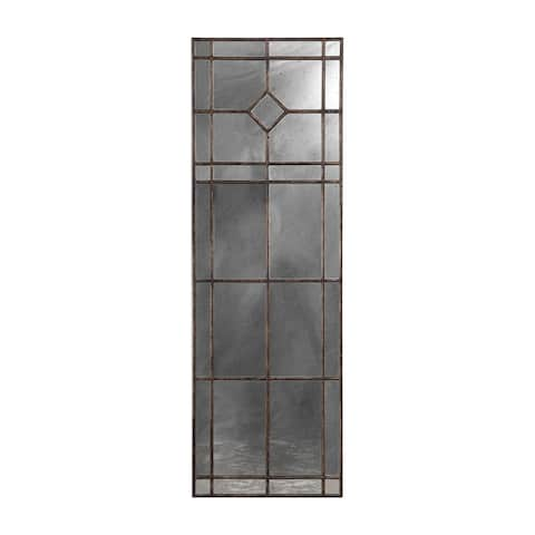 """Uttermost 09464 Winthrop 20"""" Wide Antiqued Full Length Window Pane Style Mirror - Burnished Rust Bronze"""