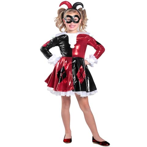 Princess Paradise Premium Harley Quinn Dress Child Costume - Red/Black