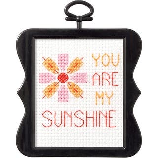 """Beginner Minis Sunshine Counted Cross Stitch Kit-3""""X3"""" 14 Count