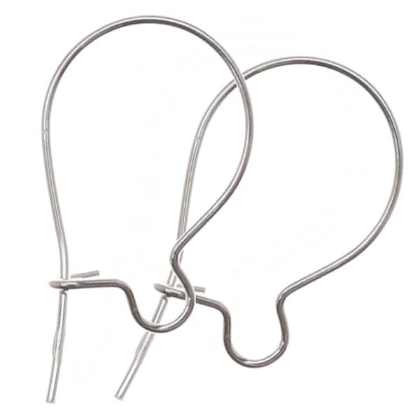 Sterling Silver Earring Hooks Kidney Wires Light (10)