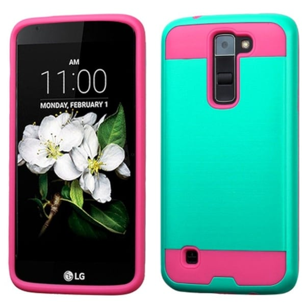 Insten Dual Layer Hybrid Rubberized Hard PC/ Silicone Case Cover For LG K7 Tribute 5