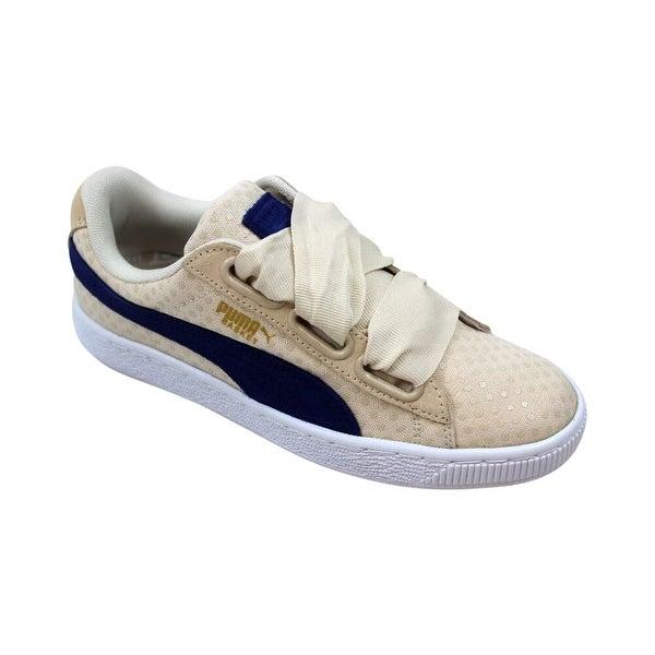 Shop Puma Basket Heart Denim Oatmeal Twilight Blue 363371 03