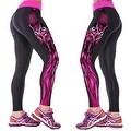 New Women's Printed Gym Running Yoga Pants High Rise Stretch Leggings Sweatpants Winter Trousers - Thumbnail 34