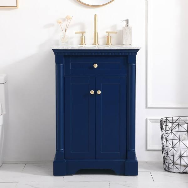 Cork Bathroom Vanity Set With Marble Countertop Overstock 32353534